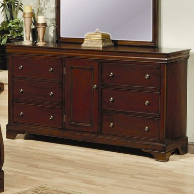 Darby Home Co 6 Drawer Dresser in Deep Mahogany ..