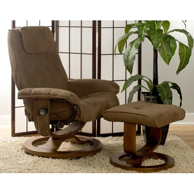 Darby Home Co Susannah Reclining Heated Massage Chair with Ottoman