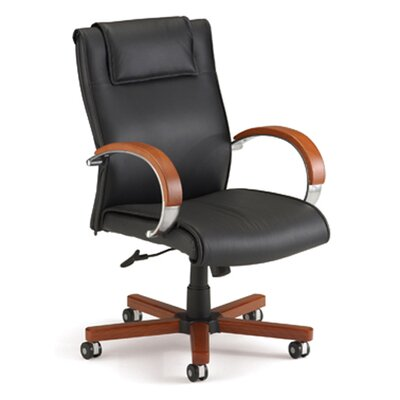 Darby Home Co Mid-Back Leather Executive Chair
