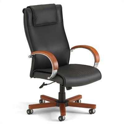 Darby Home Co High-Back Leather Executive Chair