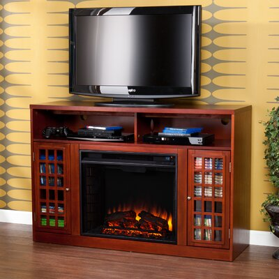 Darby Home Co Industry TV Stand with Electric Fireplace