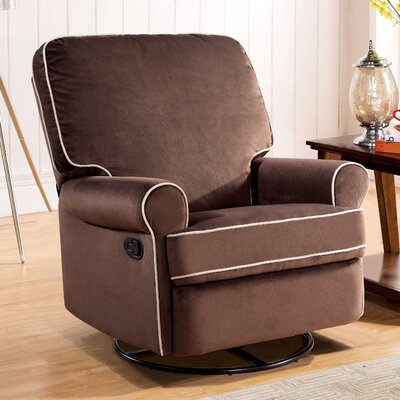 Darby Home Co Roquemore Fabric Swivel Glider Recliner