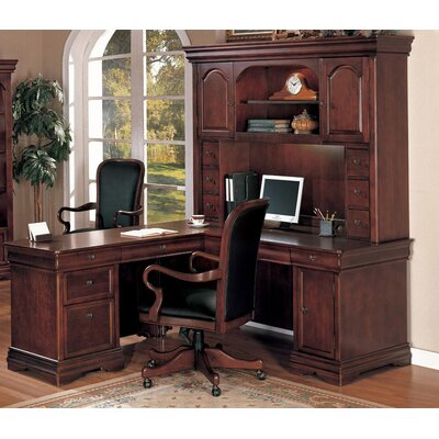 Darby Home Co Knickerbocker L-Shape Executive Computer Desk