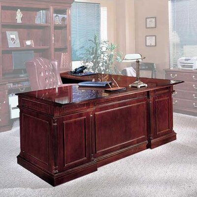 Darby Home Co Prestbury Executive Desk with Left Return