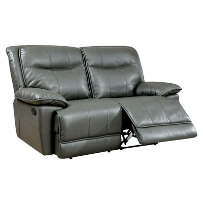 Darby Home Co Reinhart Leather Reclining Lovese..