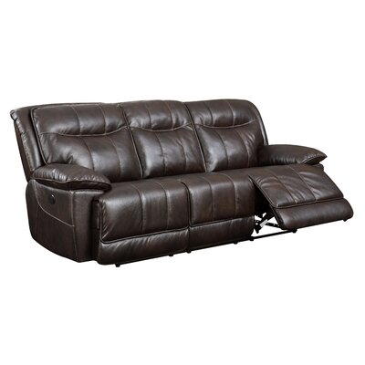 Darby Home Co Reinhart Leather Reclining Sofa