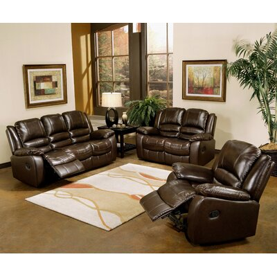 Darby Home Co Jorgensen Leather Sofa and Loveseat Set