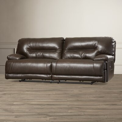 Darby Home Co Tankersley Leather Reclining Sofa