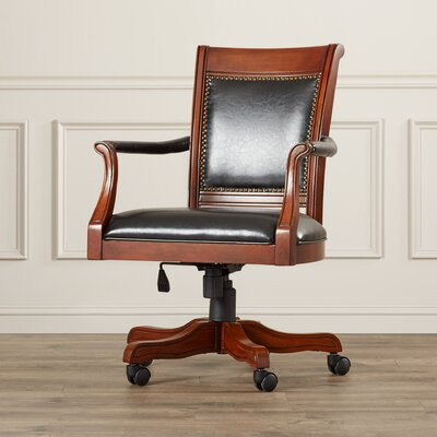 Darby Home Co Strawn Leather Arm Chair