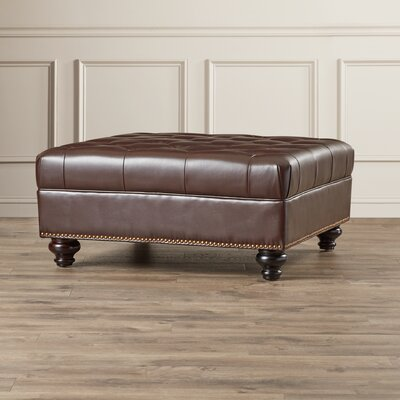 Darby Home Co Connelly Leather Cocktail Ottoman