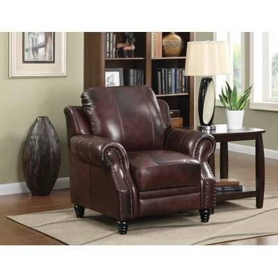 Darby Home Co Ferrero Leather Wing Recliner