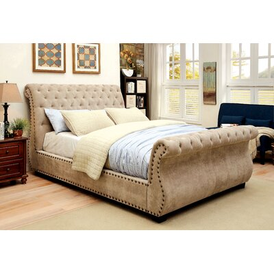 Darby Home Co Harrison Upholstered Sleigh Bed