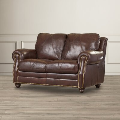 Darby Home Co Gardner Leather Loveseat