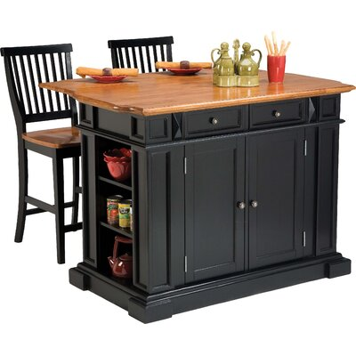 Darby Home Co Mattice 3 Piece Kitchen Island Set