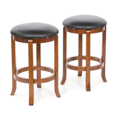 Darby Home Co Iverson 2 Piece Swivel Bar Stool Set