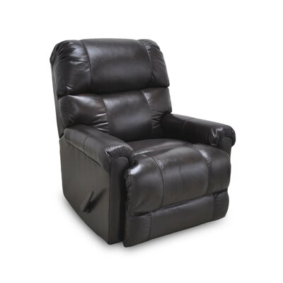 Darby Home Co Farmington Leather Rocker Recliner
