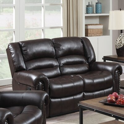 Darby Home Co Dover Reclining Loveseat