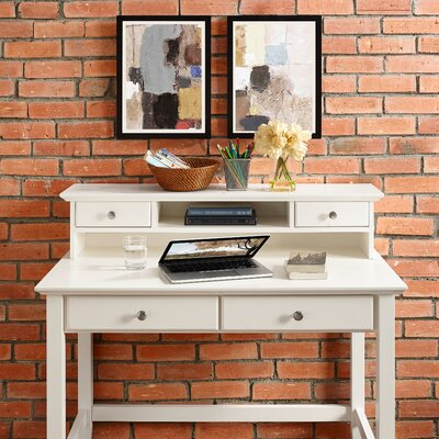 Darby Home Co Edwin Writing Desk with Hutch
