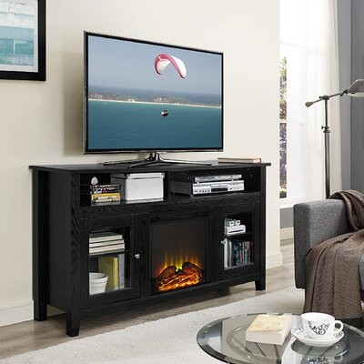 Darby Home Co Isabel Highboy TV Stand with Electric Fireplace