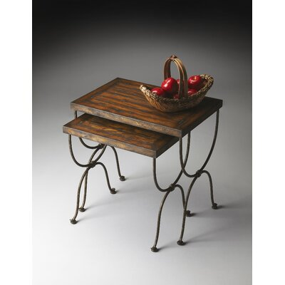 Darby Home Co Black Raven 2 Piece Nesting Tables