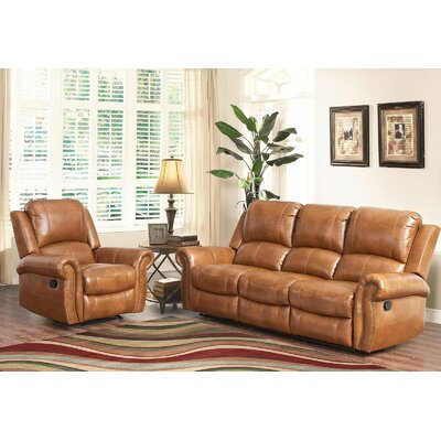 Darby Home Co Bitter Root Sofa and Recliner Set
