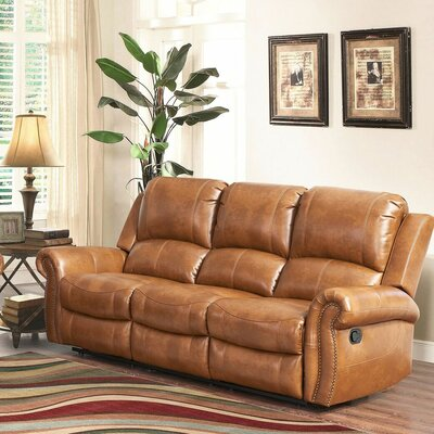 Darby Home Co Bitter Root Leather Sofa