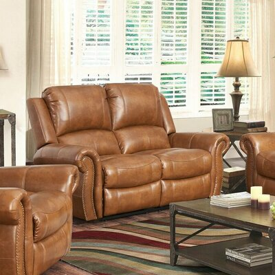 Darby Home Co Bitter Root Leather Loveseat