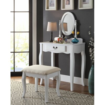 Darby Home Co Spurling Hill Transitional Vanity Set with Mirror Image