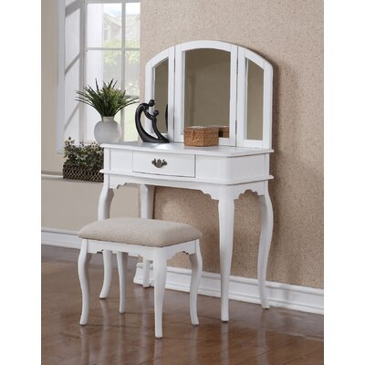 Alcott Hill Edgar Vanity Set with Mirror