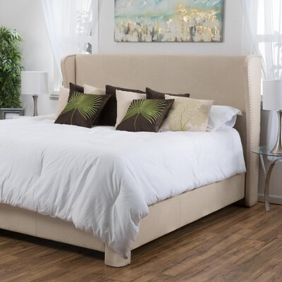 Alcott Hill King Upholstered Panel Bed