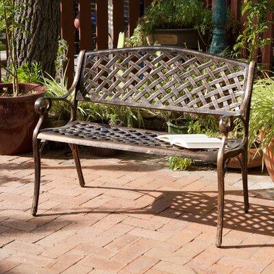 Alcott Hill Clifford Cast Aluminum Garden Bench U0026 Reviews   Wayfair