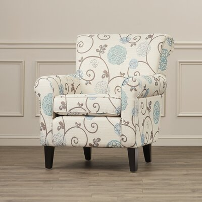 Alcott Hill Wadham Flowered Upholstered Club Ch..