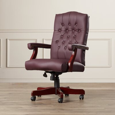 Alcott Hill Kirkland Swivel Leather Office Chair