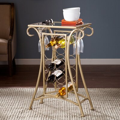 Alcott Hill Herbert 10 Bottle Floor Wine Rack
