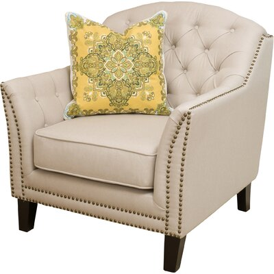 Alcott Hill Plumwood Tufted Fabric Club Chair