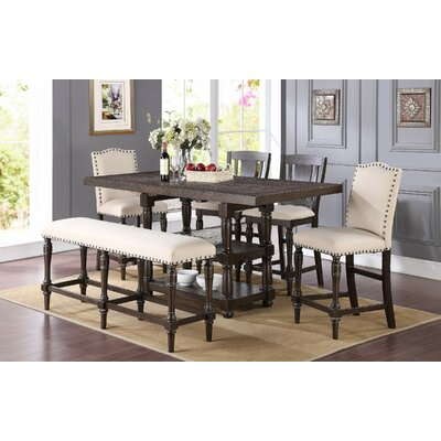 Alcott Hill Atwell 6 Piece Counter Height Extendable Dining Set