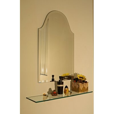 Frameless Wall Mirror alcott hill bristol frameless wall mirror & reviews | wayfair
