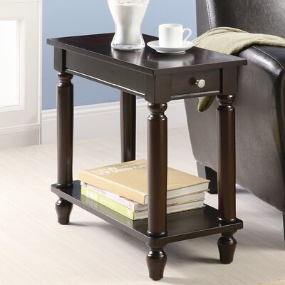 Charlton Home Louis Chairside End Table in Cappuccino