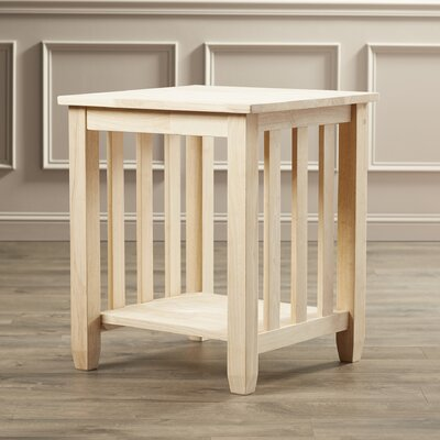 Charlton Home Maguire Wood Mission End Table Image