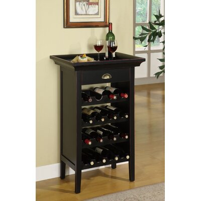 Charlton Home Beamish 16 Bottle Floor Wine Rack