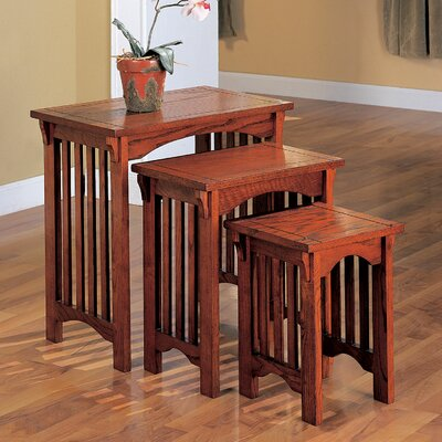 Charlton Home 3 Piece Nesting Table Set