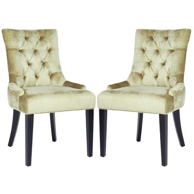 Charlton Home Reynesford Velvet Side Chair (Set of 2) (Set of 2)