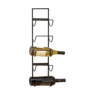 Charlton Home Leveson 5 Bottle Wall Mounted Wine Rack