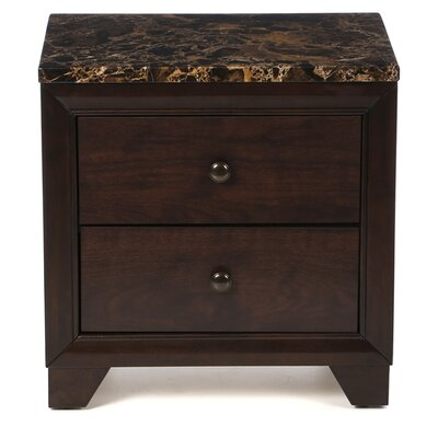 Charlton Home Curteys 2 Drawer Nightstand