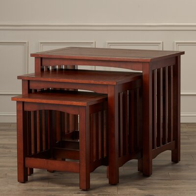 Charlton Home Oakcrest 3 Piece Nesting Tables