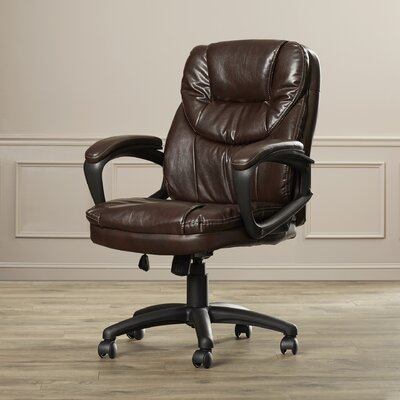 Charlton Home Musgrove High-Back Faux Leather Managers Chair with Padded A..