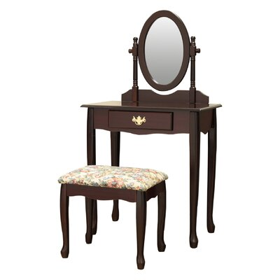 Charlton Home Ogden Vanity Set with Mirror