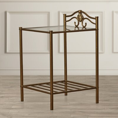 Charlton Home Emington Nightstand in Brus..