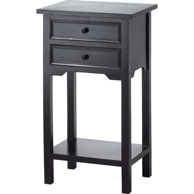 Charlton Home Berwick 2 Drawer End Table