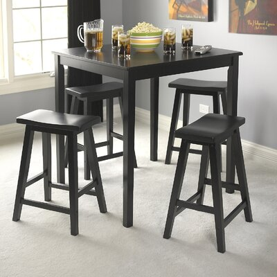 Charlton Home Cromwell 5 Piece Saddle Dining Set